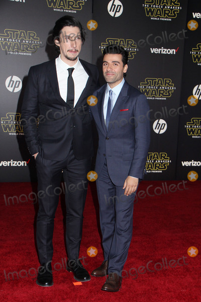 Adam Driver Photo - Adam Driver Oscar Isaac 12142015 Star Wars The Force Awakens Premiere held at the Dolby Theatre in Hollywood CA Photo by Kazuki Hirata  HollywoodNewsWirenet