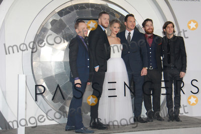 Jennifer Lawrence Photo - Imagine Dragons Ben McKee Dan Reynolds Jennifer Lawrence Chris Pratt Daniel Platzman Wayne Sermon 12142016 The World Premiere of Passengers held at the Regency Village Theatre in Los Angeles CA Photo by Izumi Hasegawa  HollywoodNewsWireco