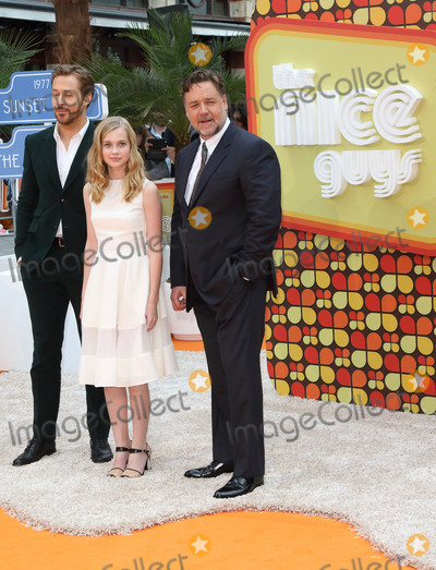 Angourie Rice Photo - London UK Ryan Gosling Angourie Rice and Russell Crowe at The Nice Guys UK Premiere at the Odeon Leicester Square London on May 19th 2016Ref LMK73 -60314-200516Keith MayhewLandmark Media WWWLMKMEDIACOM