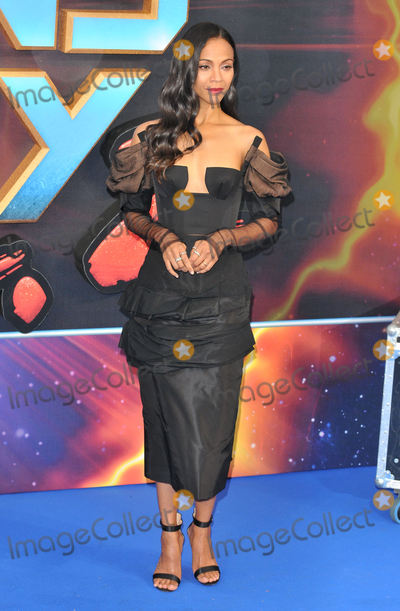 Zoe Saldana Photo - London UK Zoe Saldana at Guardians of The Galaxy Vol 2 - European gala premiere at Eventim Apolllo Hammersmith London on April 24th 2017Ref LMK315-J230-250417Can NguyenLandmark MediaWWWLMKMEDIACOM