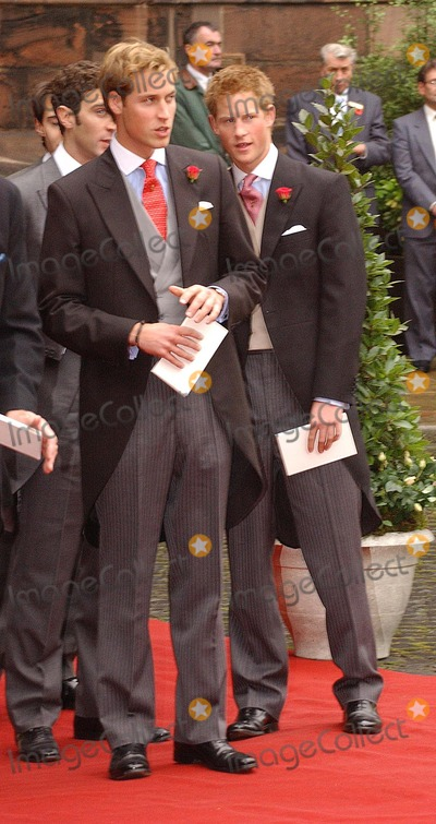 William Prince Photo - Chester Prince William and Prince Harry at the wedding of Lady Tamara Grosvenor to banker Edward van Custem held at Chester Cathederal6 November 2004DREW DOWNLANDMARK MEDIA