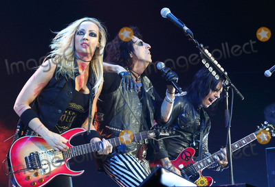 Nita Strauss Photo - London UK Alice Cooper  and Nita Strauss performing live at The first Stone Free Festival at the O2 Arena London on June 18th and 19th 2016Ref LMK73-60326-200616Keith MayhewLandmark Media WWWLMKMEDIACOM