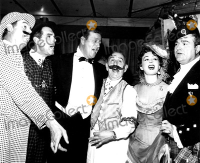 Red Skelton Photo - John Weismuller Fred Macmurray John Wayne Fred Halsey Jeanne Crain and Red Skelton Supplied by Globe Photos Inc Johnwayneretro