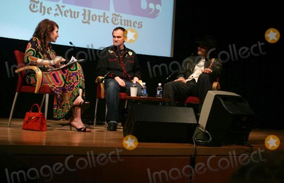 Lynn Hirschberg Photo - QUENTIN TARANTINO  AND ROBERT RODRIGUEZ  ARE INTERVIEWED BY NEW YORK TIMES EDITOR AT LARGE LYNN HIRSCHBERG AS PART OF THE TIMES TALKS SERIESTHE GRADUATE CENTER OF CUNY  03-30-2007PHOTOS BY RICK MACKLER RANGEFINDER-GLOBE PHOTOS INC2007QUENTIN TARANTINO  AND ROBERT RODRIGUEZ   WITH LYNN HIRSCHBERG K52418RM