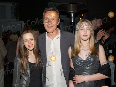 Anthony Stewart Head Photo -  Party to Celebrate the Final Buffy the Vampire Slayer Series at Miauhaus in Los Angeles CA 4182003  Photo by Fitzroy Barrett  Globe Photos Inc 2003 Anthony Stewart Head and and His Daughters Daisy May and Emily Rose