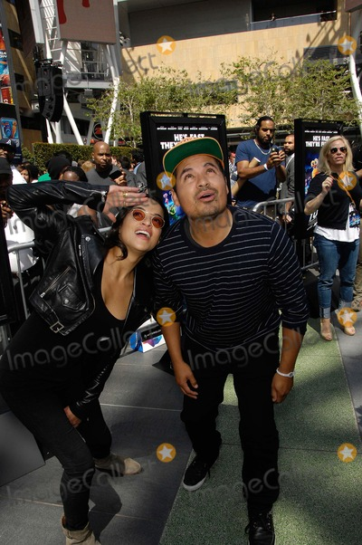 Michael Pena Photo - Michelle Rodriguez and Michael Pena During a Party Celebrating the New Movie From 20th Century Fox and Dreamworks Animation Turbo Held at the Nokia Theatre During the E3 Gaming Convention on June 12 2013 in Los Angeles Photo Michael Germana  Superstar Images - Globe Photos