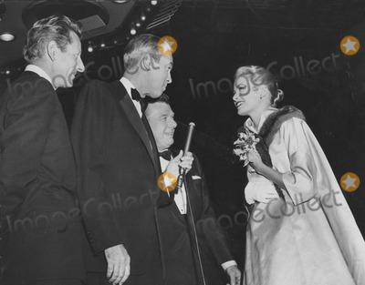Arthur Godfrey Photo - Danny Kaye Jimmy Stewart Arthur Godfrey and Grace Kellyprincess Grace at the Premiere of Strategic Air Command Globe Photos Inc