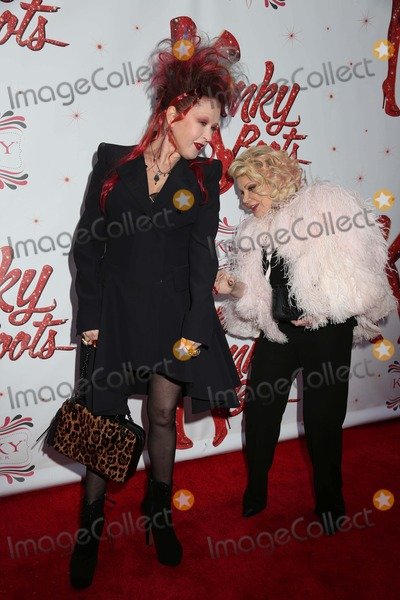 Joan Rivers Photo - Kinky Boots Opening Night on Broadway Al Hirschfeld Theater NYC April 4 2013 Photos by Sonia Moskowitz Globe Photos Inc 2013 Cyndi Lauper Joan Rivers