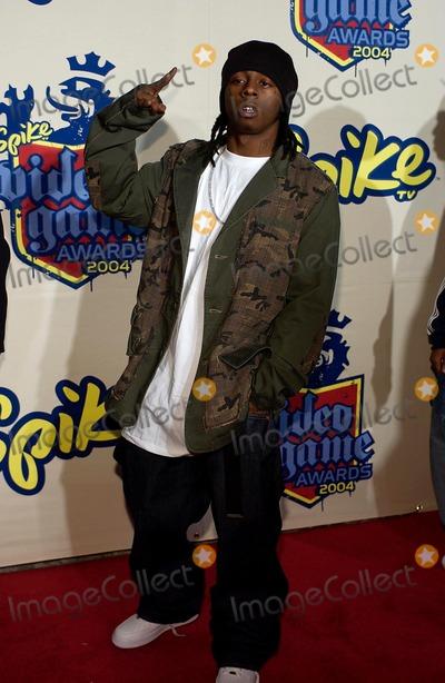 Lil Wayne Photo - Spike Tv Video Game Awards Arrivals at the Barker Hangar in Santa Monica CA 12-14-2004 Photo Valerie Goodloe-Globe Photos Inc 2004 Lil Wayne