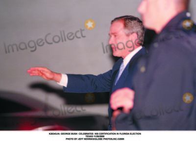 George Bush Photo -  George Bush Celebrates His Certification in Florida Election Texas 11262000 Photo by Jeff NewmanGlobe Photosinc