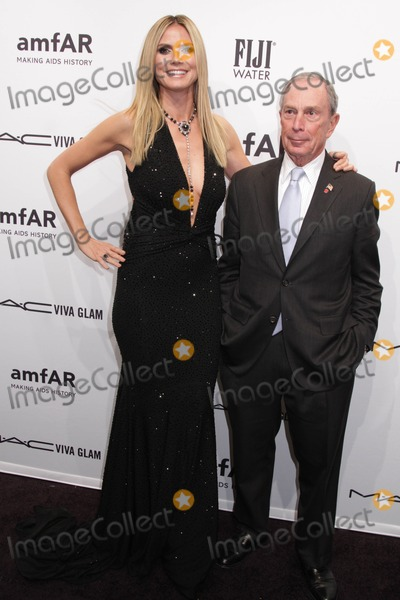Mayor Michael Bloomberg Photo - Amfar Kicks Off Fashion Week with Annual New York Gala Cipriani Wall Street NYC February 6 2013 Photos by Sonia Moskowitz Globe Photos Inc 2013 Heidi Klum Mayor Michael Bloomberg