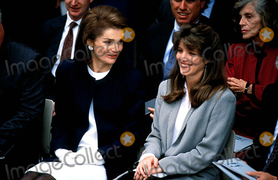 Jackie Onassis Photo - Ted Kennedy with Jacqueline Kennedy Onassis and Daughter Caroline Photoevan Richman  Ipol  Globe Photos Inc Jacquelinekenndeyonassisretro
