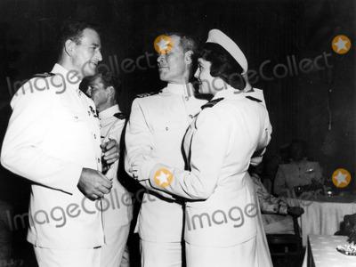 Patricia Neal Photo - Patricia Neal with John Wayne and Ward Bond in Operation Pacific 30030 Photo by Globe Photos Inc Patricianealretro