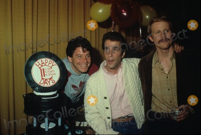 Anson Williams Photo - Ron Howard Henry Winkler Anson Williams N1786 Supplied by Globe Photos Inc