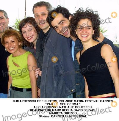 Alicia Orozco Photo - ImapressGlobe Photos Inc-nice Matin- Festival Cannes Pau I El Seu Germa  Alicia Orozco Nathalie Boutefeurealisateur Marc Rechadavid Selvasmarieta Orozco 54 me Cannes Film Festival