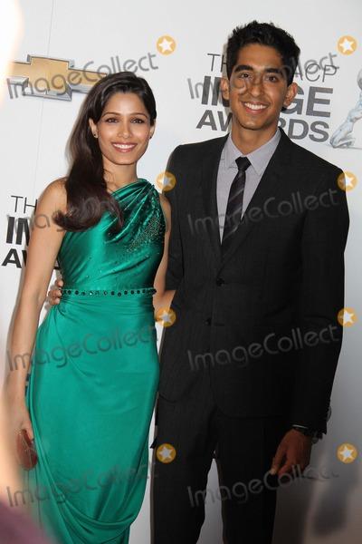 Dev Patel Photo - 44th Naacp Image Awards - Arrivals Shrine Auditorium Los Angeles CA 02012013 Frieda Pinto and Dev Patel Photo Clinton H Wallace-photomundo-Globe Photos Inc