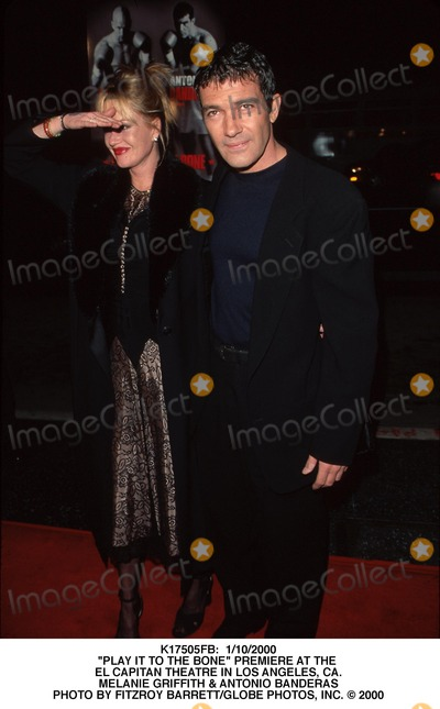 Melanie Griffith Photo -  1102000 Play It to the Bone Premiere at the El Capitan Theatre in Los Angeles CA Melanie Griffith  Antonio Banderas Photo by Fitzroy BarrettGlobe Photos Inc