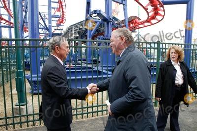 Mayor Bloomberg Photo - Brooklyn NY   Mayor Michael Bloomberg opens Scream Zone  Amusement Park in Coney Island Debut of First New Roller Coasters since the Cyclone opened in 1927 Mayor Bloomberg  Antonio Zamperla            Bruce Cotler              4  20 11  ANTONIO ZAMPERLA and MICHAEL BLOOMBERG