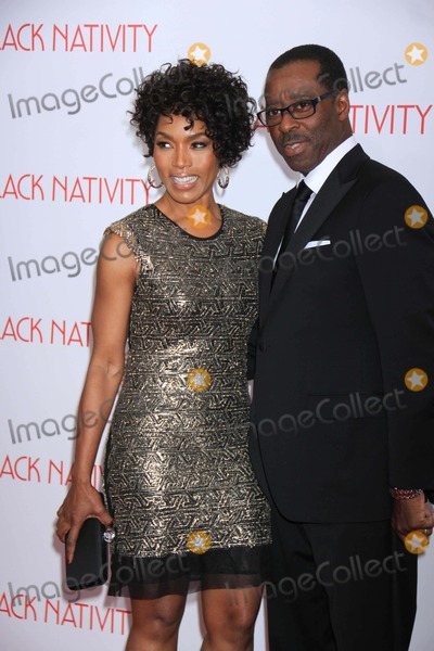 Courtney B Vance Photo - Courtney Bvanceangela Bassett at NY Premiere Ofblack Nativity at the Apollo Theater 11-18-2013 John BarrettGlobe Photos