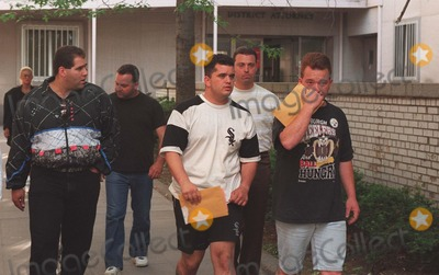 John Gotti Photo - 994_neil Schneider_john Gottis Younger Son Peter(whitesox Shirt) Leaving Queens County Courthouse After Being Released on Bail For Assault with Some of His Friends Credit Neil SchneiderGlobe Photos Inc