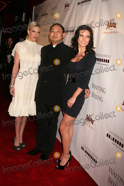 Alan Zhang Photo - Waiting in Beijing North American Premiere Fine Arts Theatre Beverly Hills CA 121008 Tori Spelling and Alan Zhang-director with Audrina Patridge Photo Clinton H Wallace-photomundo-Globe Photos Inc