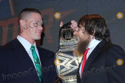 Daniel Bryan Photo - John Cena Daniel Bryan Attend First Ever Wwe Summerslam Press Conference on 13th August 2013 at the Beverly Hills Hotelbeverly Hills Causaphoto TleopoldGlobephotos