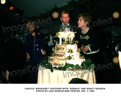 Ronald Reagan Photo -  Lady Margaret Thatcher Pres Ronald Reagan and Nancy Reagan Photo by Lisa RoseGlobe Photosinc