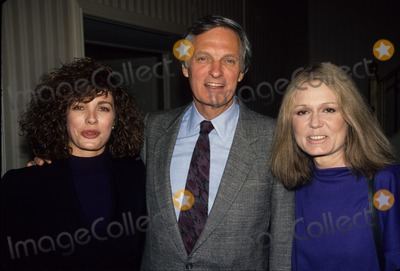 Alan Alda Photo - Anne Archer with Alan Alda and Gloria Steinem 1989 A4037 Photo by Adam Scull-Globe Photos Inc