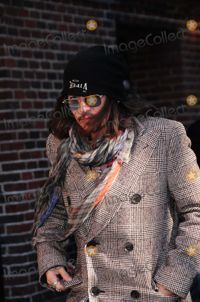 Johnny Depp Photo - Late Show Ed Sullivan Theater NY 2-21-2013 Photo by - Ken Babolcsay IpolGlobe Photo 2013 Johnny Depp
