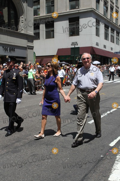 William bratton photo pride parade nyc 2014 walks down fifth ave as