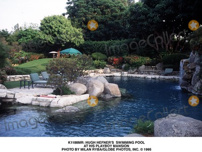 Photos and pictures hugh hefner 39 s swimming pool at his - Playboy swimming pool ...