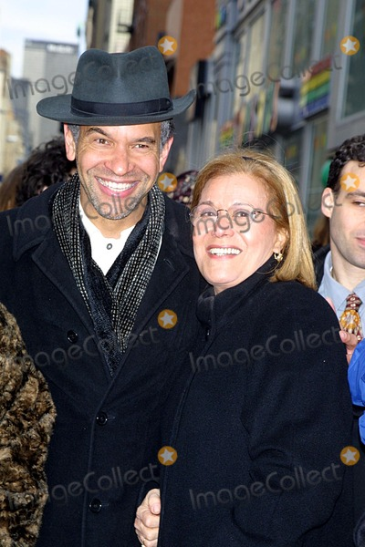 Anna Strasberg Photo - the Actors Fund of America Unveil Lee Strasberg Way 15th Street NYC 021202 Photo John BarrettGlobe Photos Inc 2002 Brian Stokes Mitchell Anna Strasberg