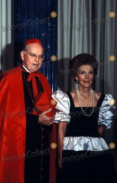 Al Smith Photo - Nancy Reagan with Cardinal Cooke at AL Smith Dinner in New York City 1981 Photo by James ColburnipolGlobe Photos Nancyreaganretro