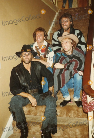 Andy Gibb Photo - Andy Gibb with Bee Gees F6566 Supplied by Globe Photos Inc