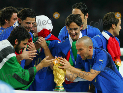 Alessandro Del Piero Photo - Gennaro Gattuso Filippo Inzaghi  Alessandro Del Piero with World Cup Trophy Italy V France Gattuso Inzaghi  Del Pierro Italy V France Olympic Stadium Berlin Germany 07-09-2006 K48556 Photo by Allstar-Globe Photos