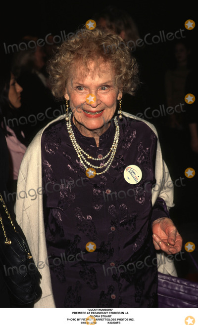 Gloria Stuart Photo - Lucky Numbers Premiere at Paramount Studios in LA Gloria Stuart Photo by Fitzroy BarrettGlobe Photos Inc 10-24-2000
