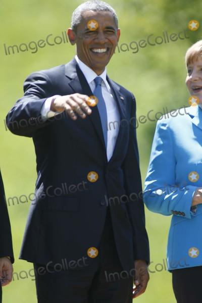 Angela Merkel Photo - Us President Barack Obama and German Chancelor Angela Merkel Attend the G7 Summit at Elmau Castle Near Garmisch-partenkirchen Germany on 07 June 2015 Photo Alec Michael