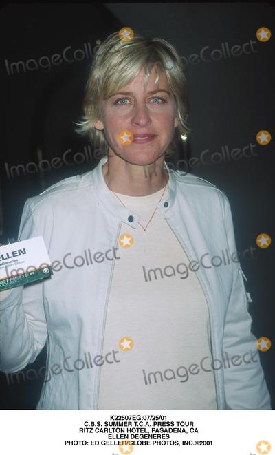 Ellen Degeneres Photo - 072501 Cbs Summer Tca Press Tour Ritz Carlton Hotel Pasadena CA Ellen Degeneres Photo Ed GellerGlobe Photos Inc