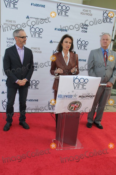 Angel City Photo - 2014 Made in Hollywood Awards Hosted by Los Angeles City Council  Hollywood Chamber of Commerce 1600 Vine Hollywood CA 02132014 Mitch Ofarrell Jacqueline Bissett and Tom Labonge Clinton H WallacephotomundoGlobe Photos Inc