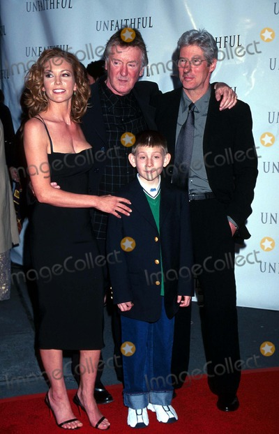 Adrian Lyne Photo -  Unfaithful Screening at the Ziegfeld Theatre in New York City 050602 Photo by Kelly JordanGlobe Photos Inc 2002 Diane Lane Adrian Lyne Richard Gere and Erik Per Sullivan