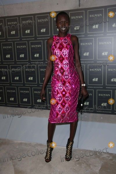Alek Wek Photo - Alek Wek attends the Balmain X Hm Collection Launch Event 23 Wall Street NYC October 20 2015 Photos by Sonia Moskowitz Globe Photos Inc
