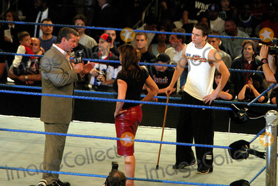 Stephanie McMahon Photo - Sd0624 Wwe Smackdown at Madison Square Garden New York City Photojohn Barrett  Globe Photos Inc 2003 Zach Gowen with Vince and Stephanie Mcmahon