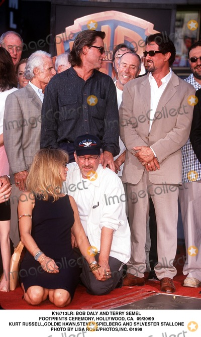 Goldie Photo -  Bob Daly and Terry Semel Footprints Ceremony Hollywood CA 093099 Kurt Russellgoldie Hawnteven Spielberg and Sylvester Stallone Photo by Lisa Rosephotosinc