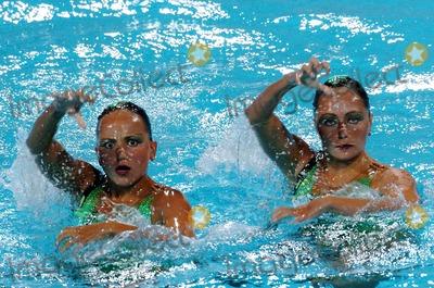 Anastasia Ermakova Photo - 2004 Olympic Games Athens-greece Synchronized Swimming 08232004 Photo by Mattia DalbertolapresseGlobe Photosinc Anastasia Davidova and Anastasia Ermakova