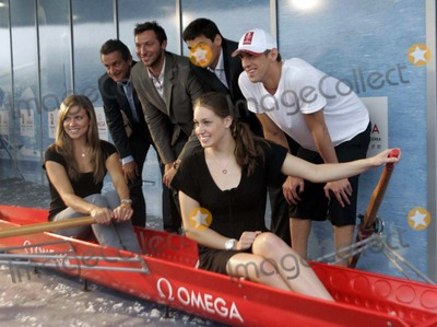 Ian Thorpe Photo - (L-R) Omega president Stephen Urquhart Ian Thorpe of Australia Alexander Popov(L) of Russia Michael Phelps Natalie Coughlin Katie Hoff of the United States pose at the press conference of the Omega in Beijing China on August 20 2008CHINA OUTTPGNEWSBeijing 2008 OlympicsPhoto by Top Photo-Globe Photos incK59167