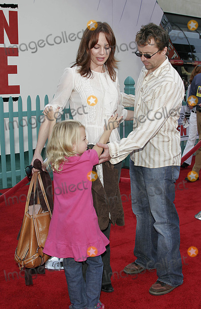 Melinda Clarke and husband