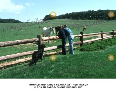 Ronald Reagan Photo - Ronald and Nancy Reagan at Their Ranch Ron Mesaros Globe Photos Inc