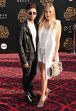 Photo - 24 May 2016 - Hollywood California - Max Ehrich Veronica Dunne Arrivals for the Premiere Of Disneys Alice Through The Looking Glass held at El Capitan Theater Photo Credit Birdie ThompsonAdMedia
