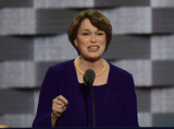 Amy Klobuchar Photo - United States Senator Amy Klobuchar (Democrat Of Minnesota) makes remarks during the second session of the 2016 Democratic National Convention at the Wells Fargo Center in Philadelphia Pennsylvania on Tuesday July 26 2016 Photo Credit Ron SachsCNPAdMedia