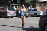 Photos From Ana Braga Spotted at a Convenience Store in Shorts